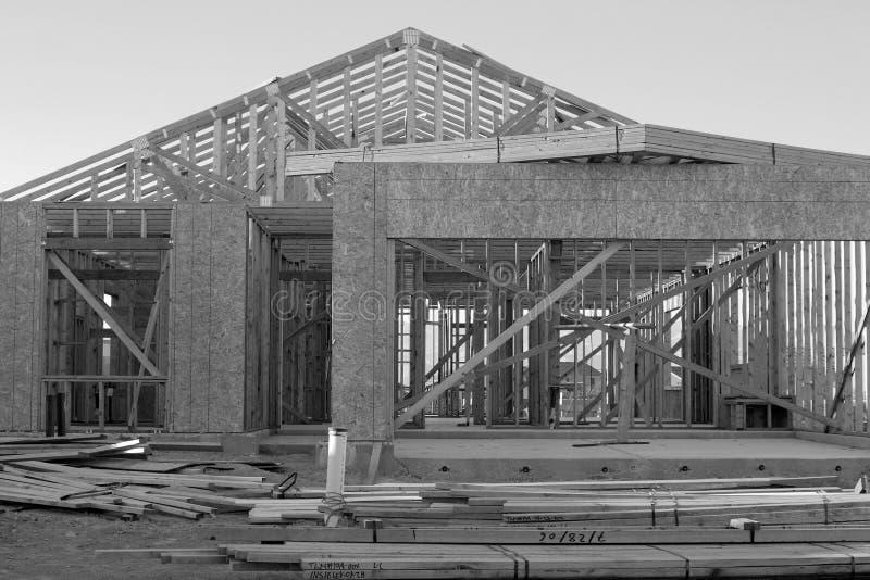 Construction noire et blanche image libre de droits