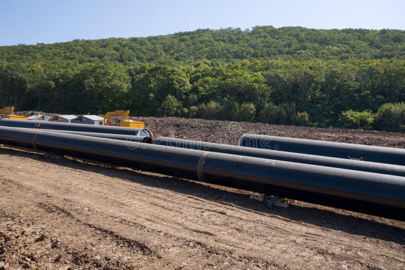construction oil pipeline stock photos