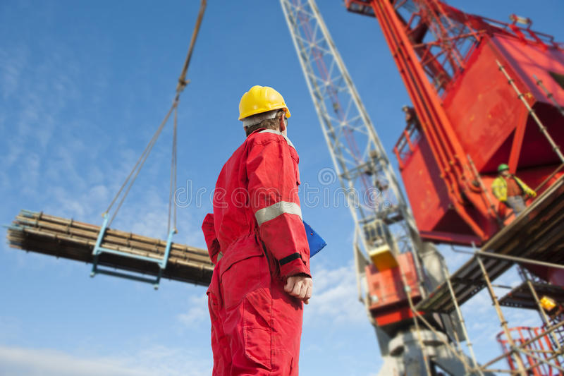 Construction operator royalty free stock photos