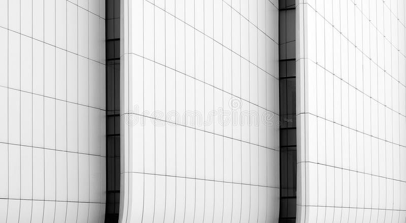 Construction panel abstract lines in architecture. Smooth lines designe stock image