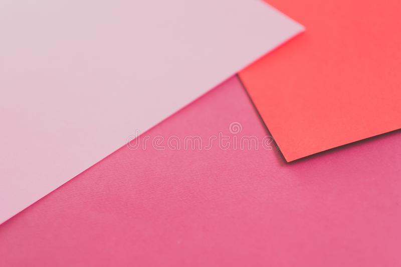 Construction paper collage background pink layers. Construction paper collage background. abstract pink and red layers. empty space concept stock image
