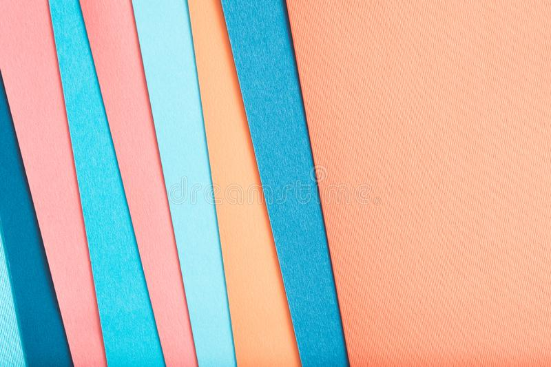 Construction paper layer color abstract background royalty free stock photo