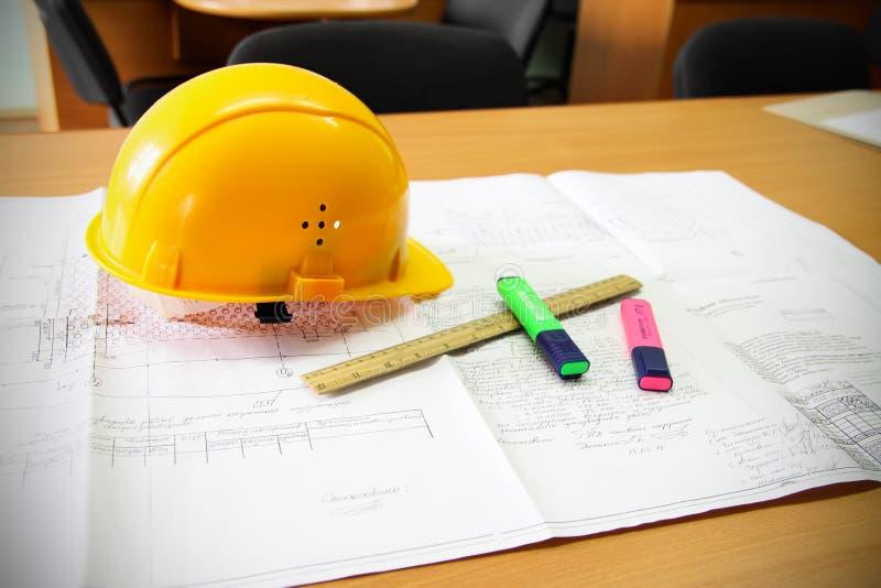 Construction plan royalty free stock photo