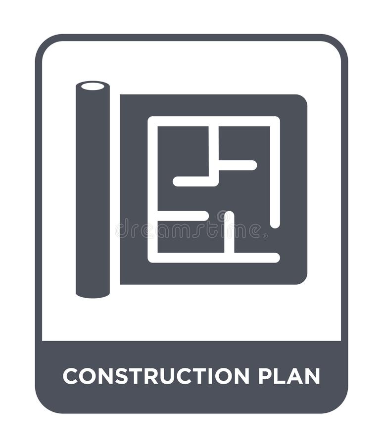 construction plan icon in trendy design style. construction plan icon isolated on white background. construction plan vector icon royalty free illustration