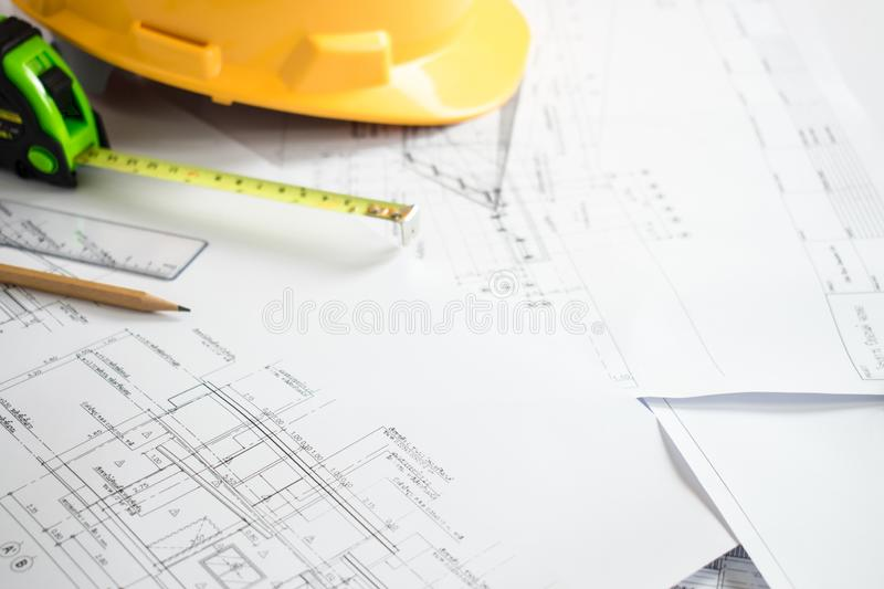Construction planning and design stock photos