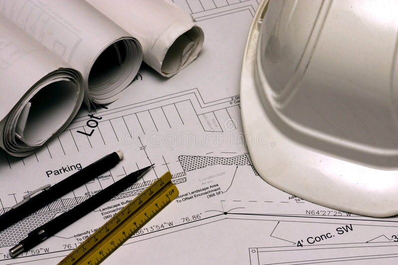Download Construction Plans 1 Stock Photo - Image: 311420