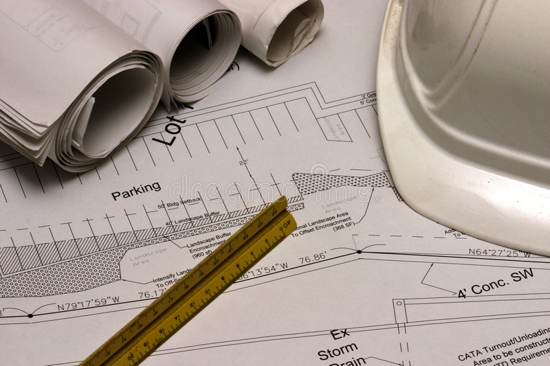 Construction Plans 3 royalty free stock image