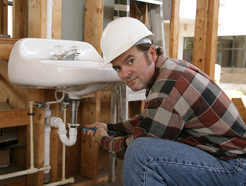 Download Construction Plumber Working Royalty Free Stock Images - Image: 1418319
