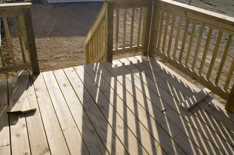 Construction: Porch/Deck stock photo