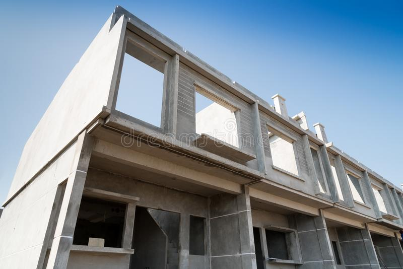 Construction préfabriquée photographie stock libre de droits
