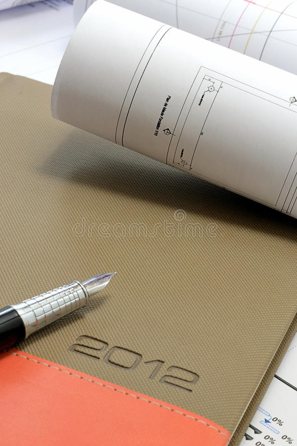 Download Construction Project Drawings Stock Photo - Image: 23004766