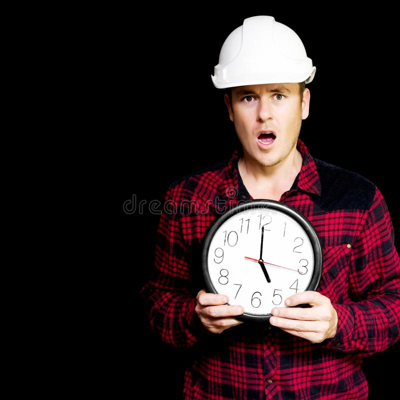 Download Construction Project Running Over Schedule Stock Image - Image: 25978577