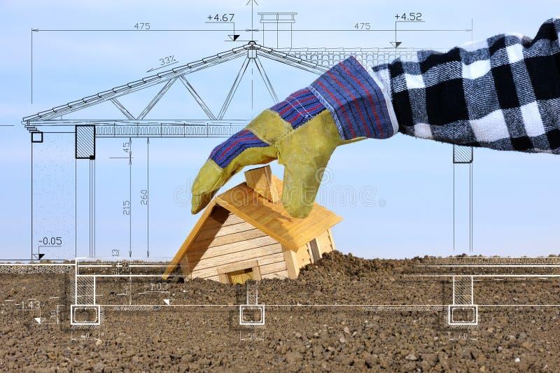 Construction quatre de projet photographie stock