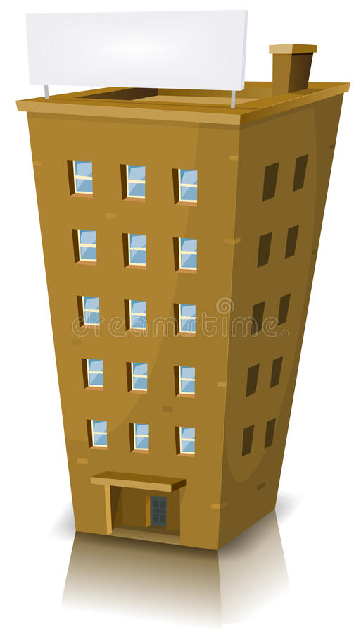 Construction résidentielle de dessin animé illustration libre de droits