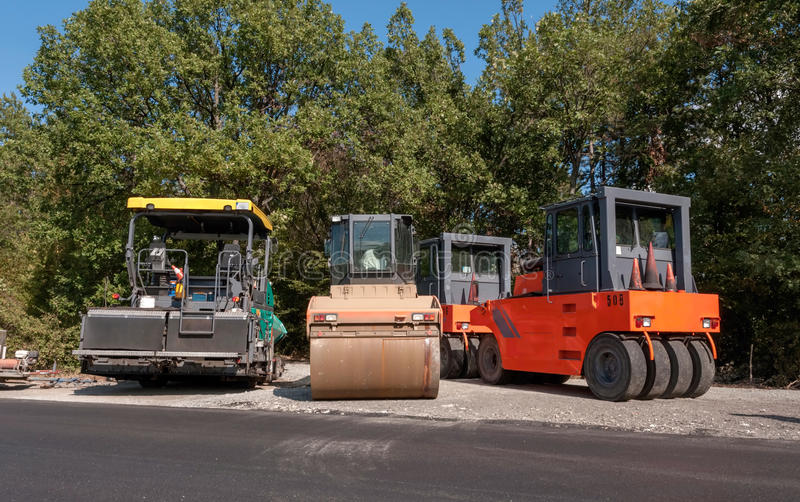 Download Construction And Repair Of Roads And Highways Stock Photo - Image of curb, loader: 27125990