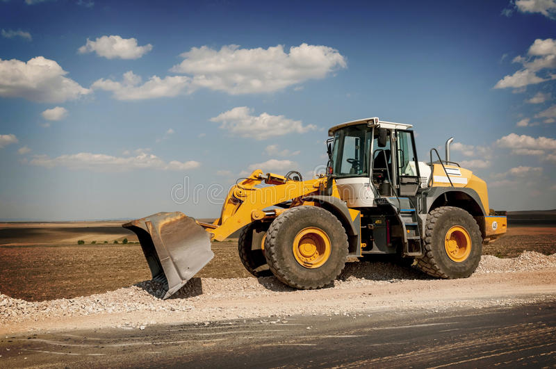 Construction And Repair Of Roads And Highways Royalty Free Stock Photos