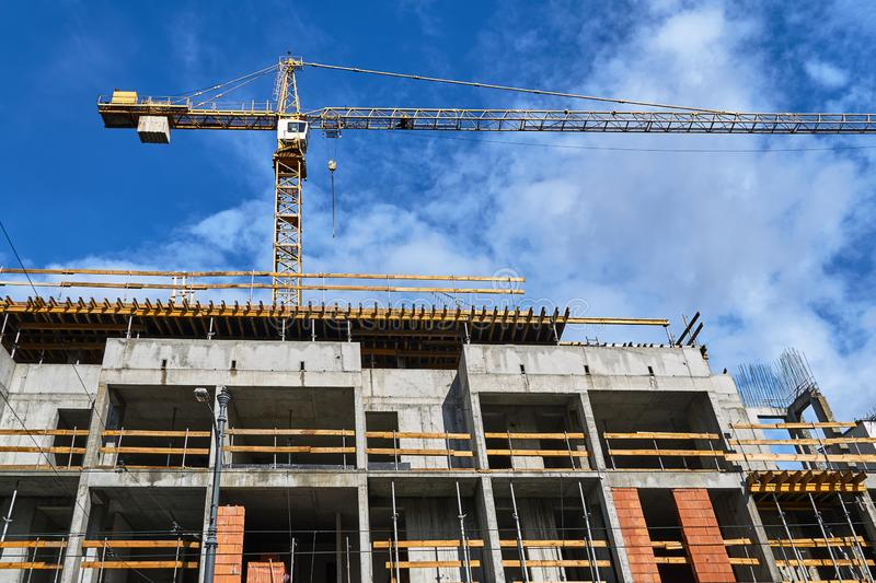 Construction of a residential building stock photography