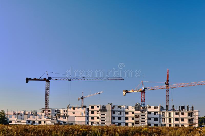 Construction of a residential building stock photos