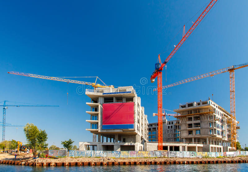 Construction of a residential complex. royalty free stock photo