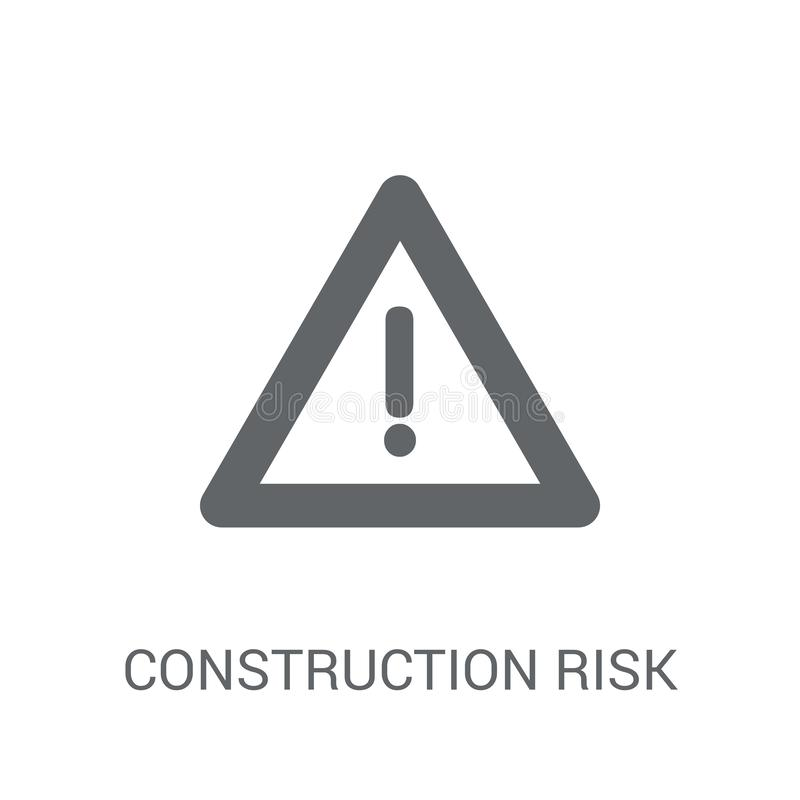 Construction risk icon. Trendy construction risk logo concept on. White background from Insurance collection. Suitable for use on web apps, mobile apps and royalty free illustration
