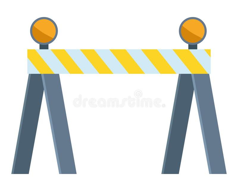 Construction road barrier with lights. Vector illustration graphic design stock illustration