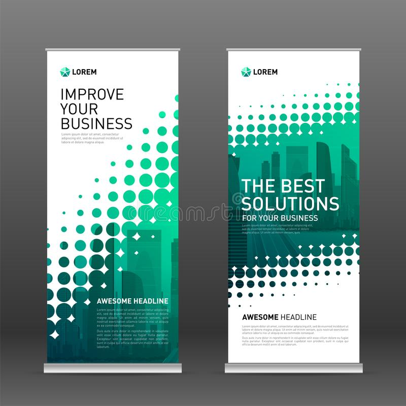 Construction roll up banner design template royalty free illustration