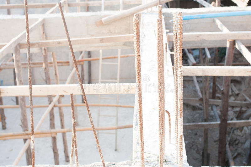 Construction. Roof structure,construction is incomplete royalty free stock photography