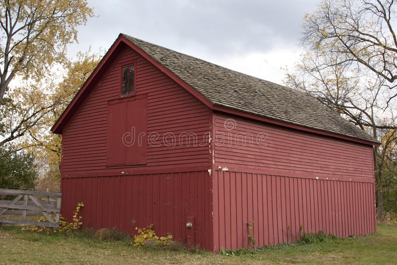 Construction rouge de grange photos stock