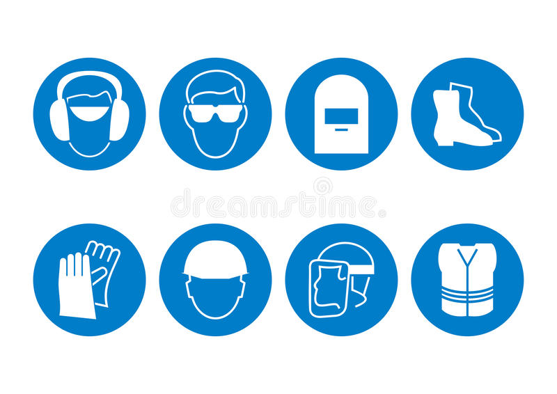 Download Construction Safety Symbols Stock Vector - Image: 13740620