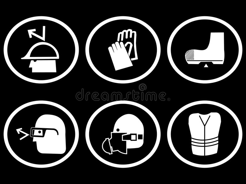 Download Construction Safety Symbols Royalty Free Stock Photos - Image: 4795768