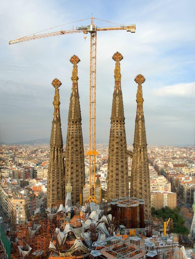 Construction Sagrada Familia, Barcelone, Espagne photos stock