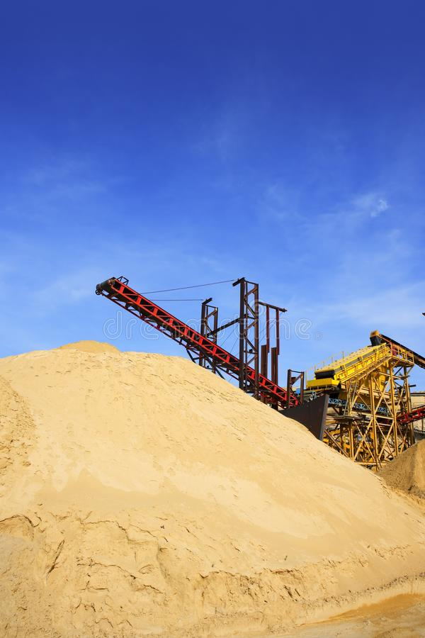 Download Construction Sand Quarry Stock Mountain Machinery Stock Photo - Image of activity, large: 15009226