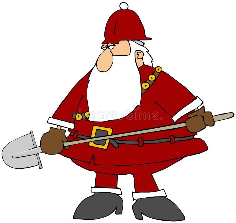 Construction Santa illustration de vecteur