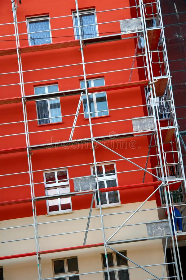 Construction scaffolding stock photos