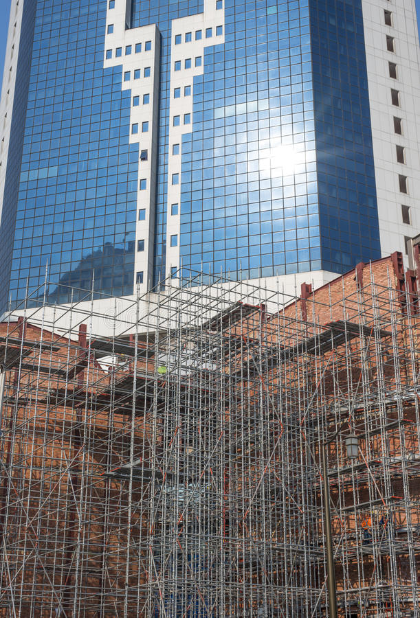 Construction Scaffolding royalty free stock photography