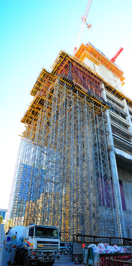 Free Construction Scaffolding Stock Images - 45649394