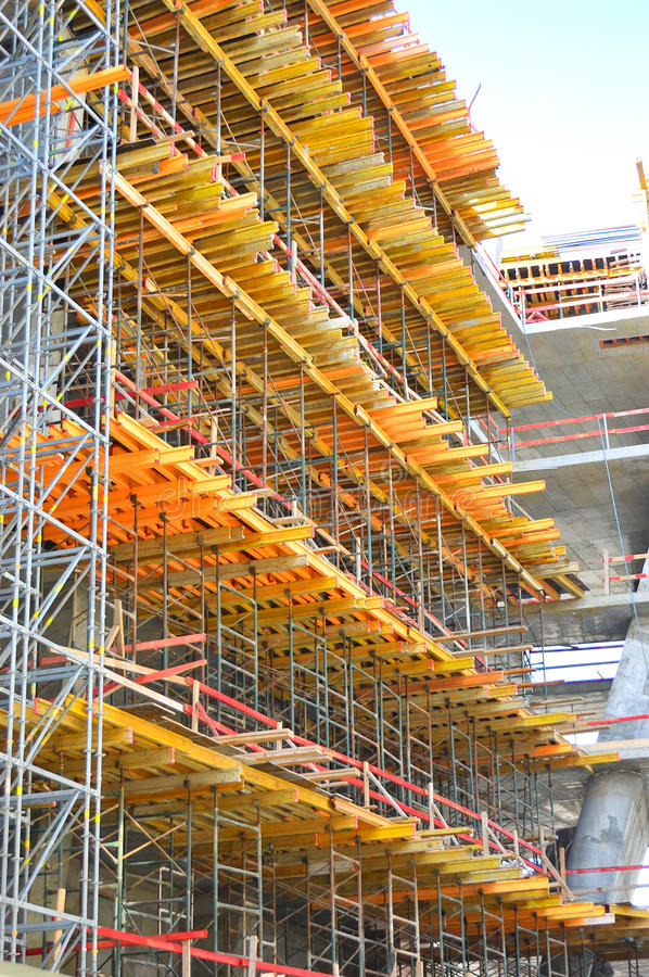 Construction Scaffolding stock photography