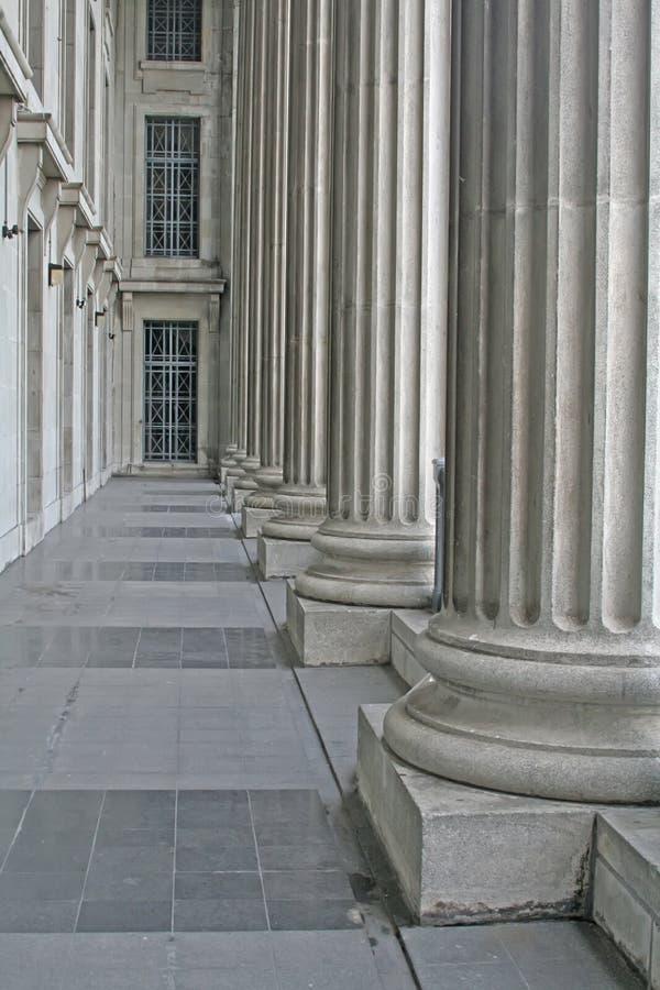 Construction scolaire de tribunal image libre de droits