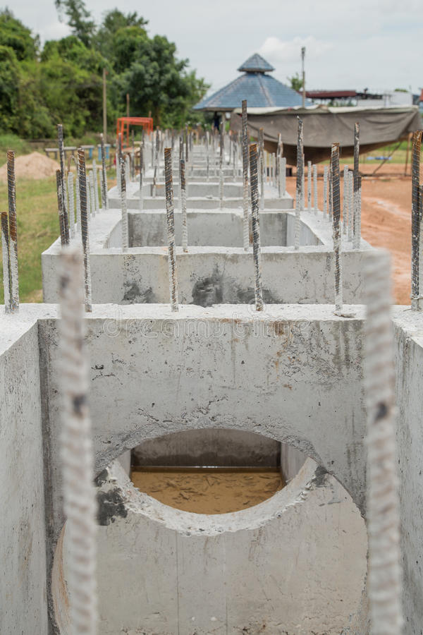 Download Construction of sewers stock photo. Image of heap, concrete - 43503774