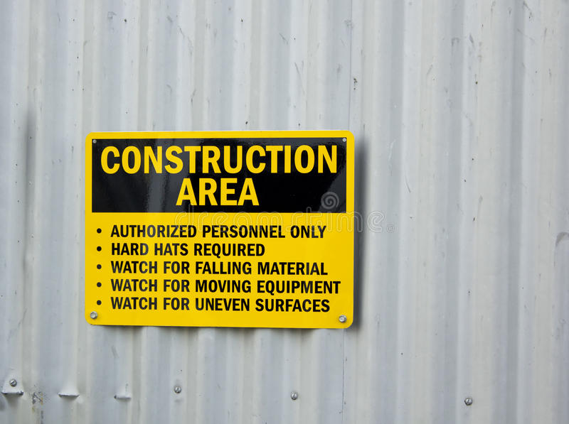 Construction Sign Stock Image