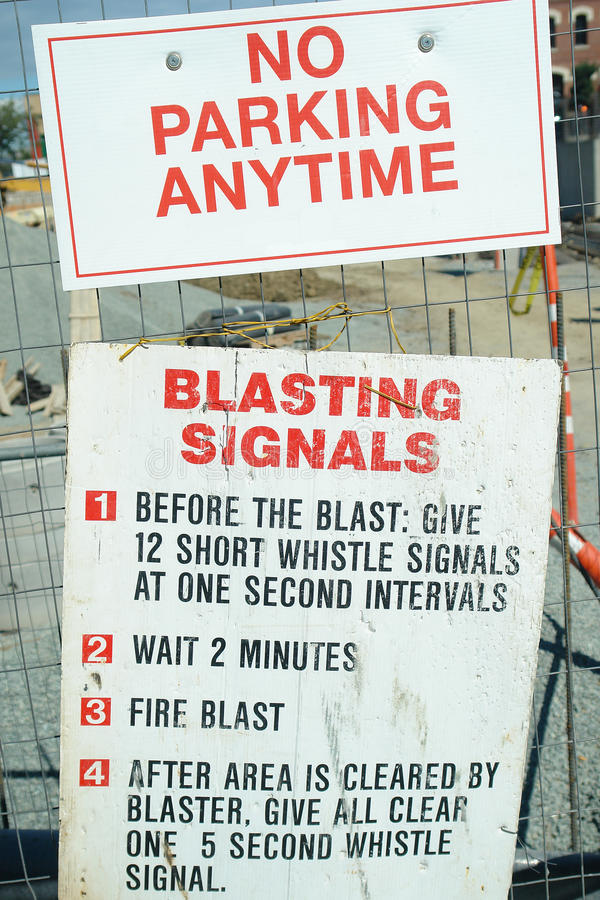 Construction Signs Blastiing Signals