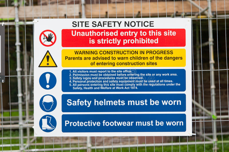 Construction Signs building site. Construction environments, isolated by groups royalty free stock photos