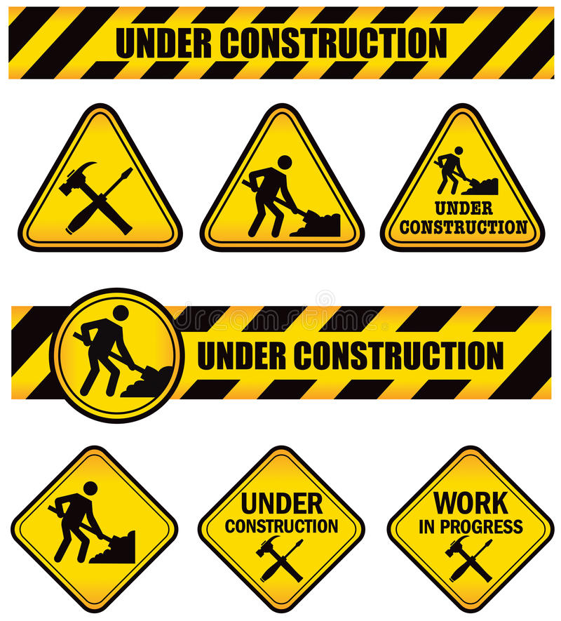 Construction Signs stock illustration