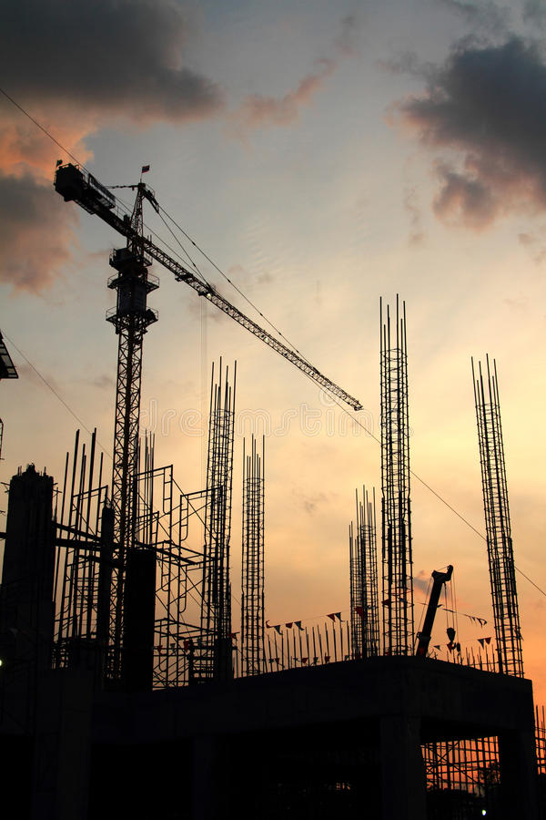 Download Construction silhouette stock image. Image of working - 26566817