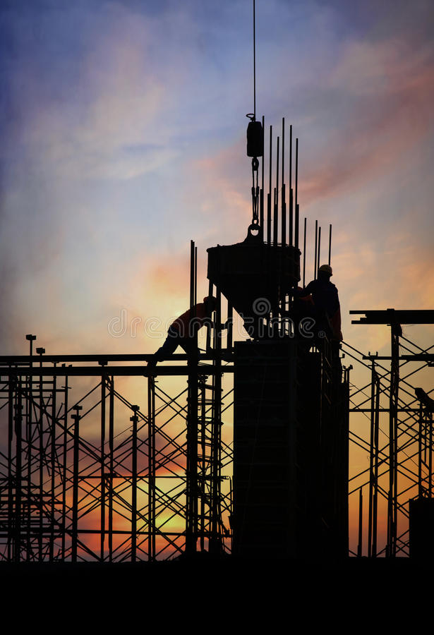 Download Construction silhouette stock photo. Image of occupation - 26567004