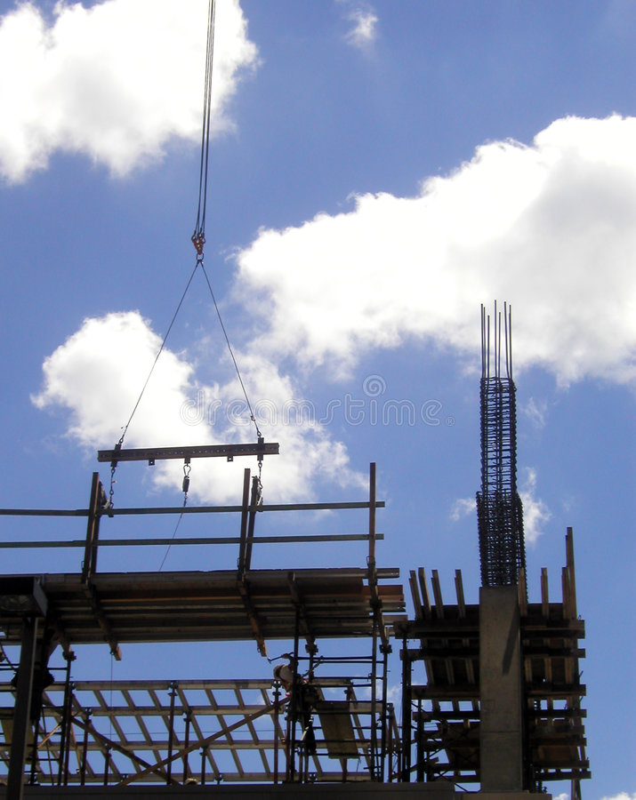 Construction Silhouettes royalty free stock images