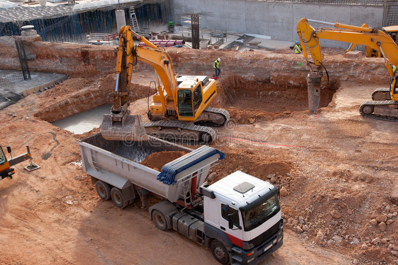 Download Construction Site stock photo. Image of excavation, earth - 17555294