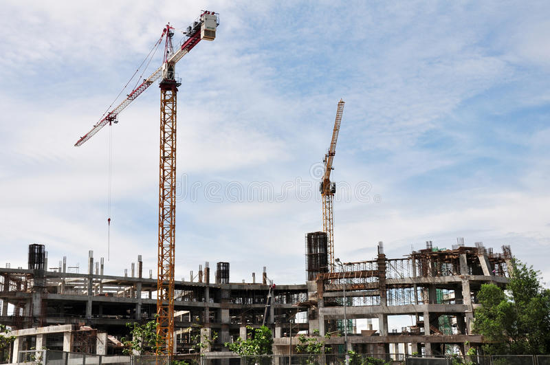 Construction site. Large construction site on the sunny day stock photos