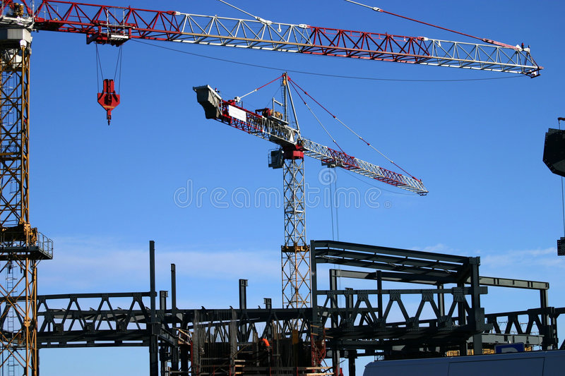 Construction site 2 stock image