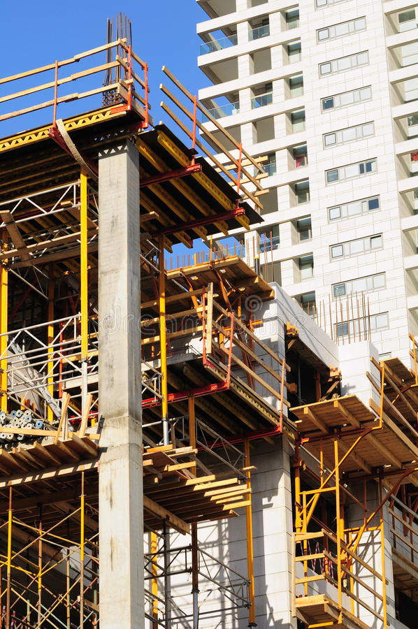 Download Construction site. stock photo. Image of wood, beton - 24530868